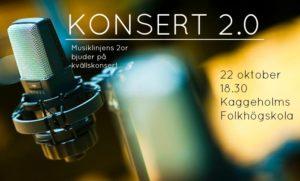 Konsert med Musiklinjen på Kaggeholms folkhögskola 22 oktober 2014